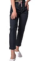 Медицинские штаны женские укороченные темно-серый