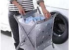 Корзина для белья Laundry Storage Basket Серая, фото 4