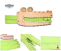 Заготовка Деревянный КРОКОДИЛЬЧИК + МОЛНИЯ для бизиборда Дерев'яний Крокодил для бізіборда 011217