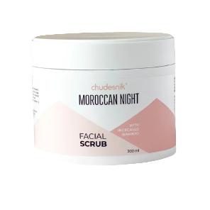 Скраб для обличчя Chudesnik Марокканська ніч зі збільшеною кількістю бамбука 300 мл