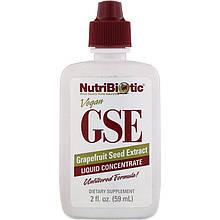 """Экстракт грейпфрутовой косточки NutriBiotic """"GSE Grapefruit Seed Extract"""" жидкий концентрат (59 мл)"""