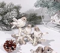 Фигурка декоративная, новогодняя Птички 192-142