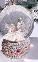 Снежный шар новогодний Единорог 192-120