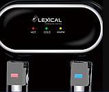 Кулер для воды Lexical настольный компрессорный охлождение/нагрев 550W/90W черный, фото 2