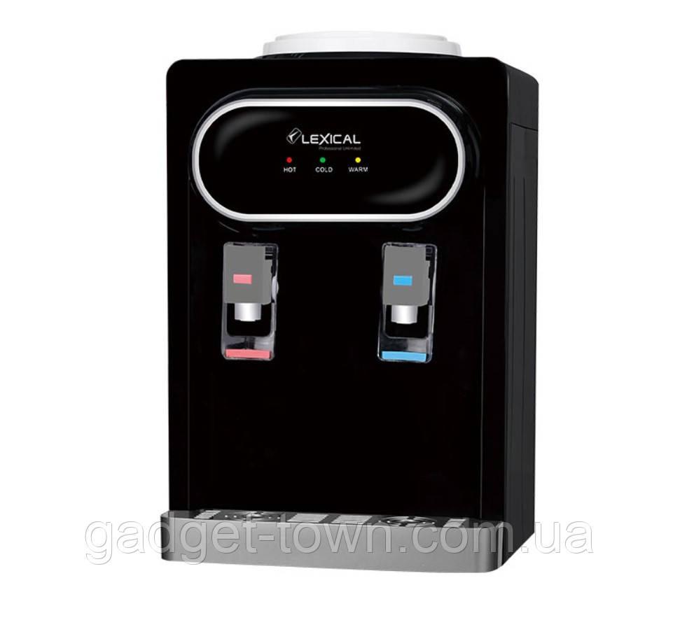 Кулер для воды Lexical настольный компрессорный охлождение/нагрев 550W/90W черный