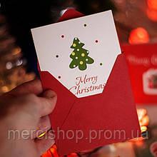 Набор из 12 новогодних открыток в индивидуальных конвертах