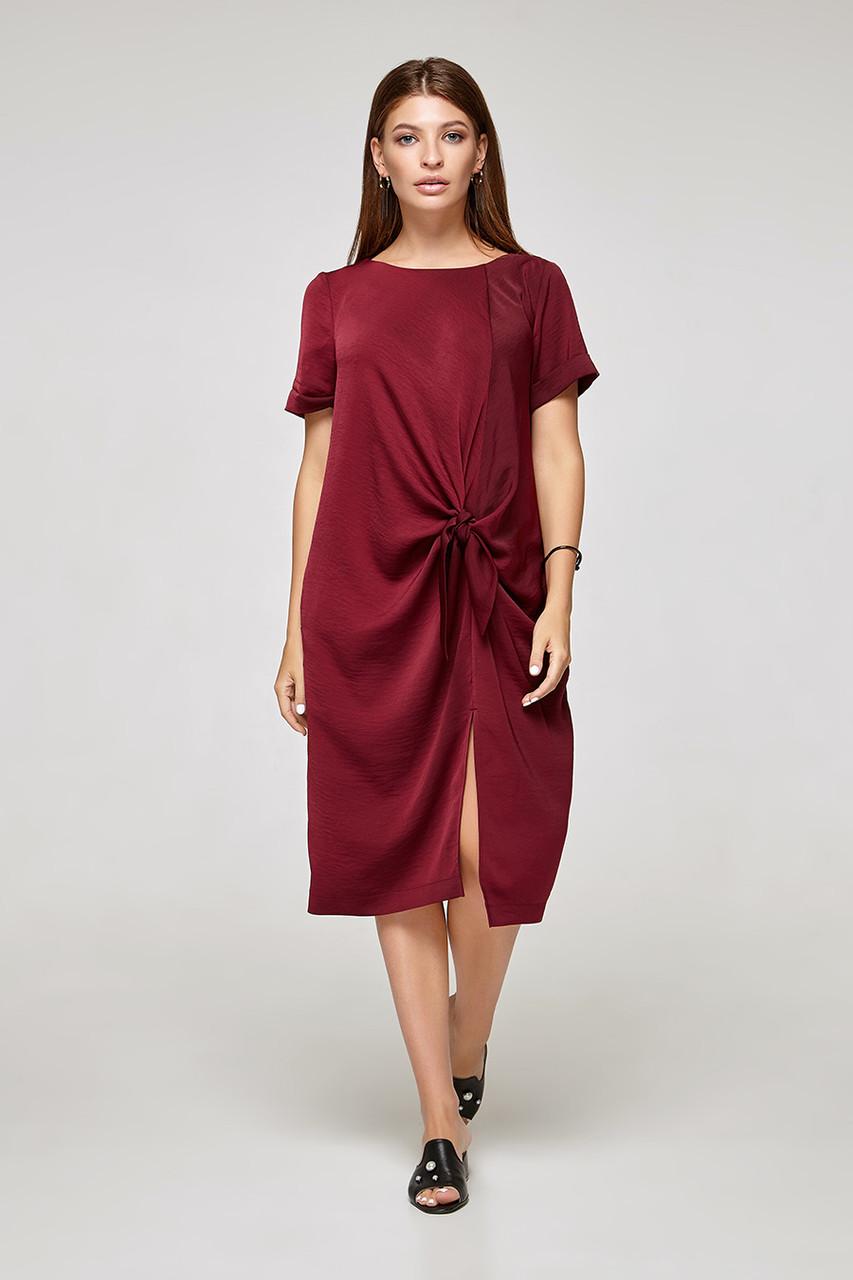 2325 платье Кристал, бургунди (S)