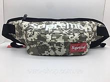 Поясна сумка Supreme Сірий камуфляж сумка на пояс