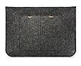 Чехол-конверт из фетра для Macbook 12/  Air11.6'' - темно серый, фото 3