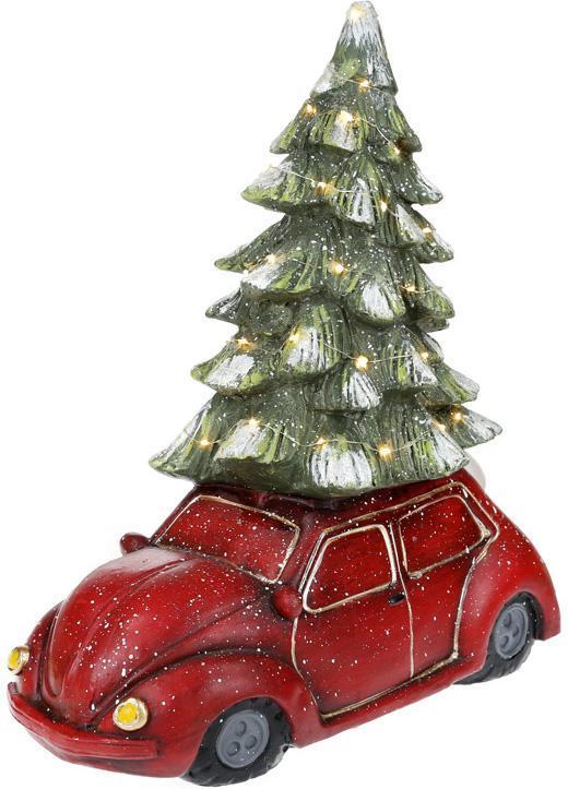 """Новогодний декор """"Автомобиль с ёлочкой"""" 49см с LED-подсветкой"""