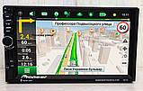 Автомагнитола Pioneer 7021 GPS, 4x60W, 7'', 2DIN, BT, SD, USB,AUX,Fm + пульт, фото 4