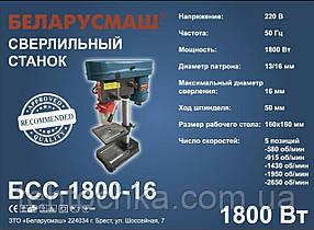 ВЕРСТАТ СВЕРДЛИЛЬНИЙ Беларусмаш БСС - 1800/16