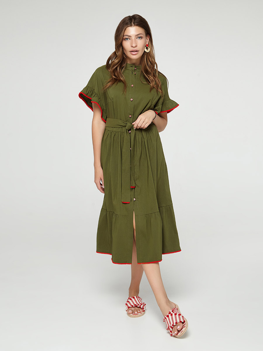2335 платье Испания, хаки (S)
