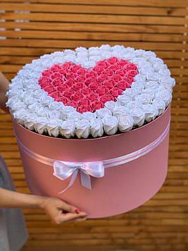 Букет з мила 123 троянди ручна робота