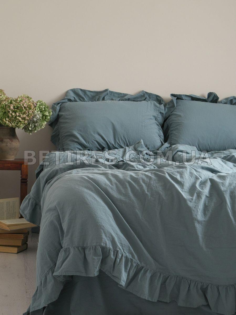 Комплект постільної білизни 160x220 LIMASSO AKDENIZ MAVISI EXCLUSIVE блакитний