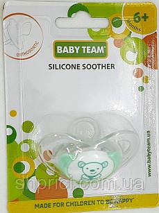 Соска-пустышка силиконовая ортодонтическая, 6+ BabyTeam, арт.3102