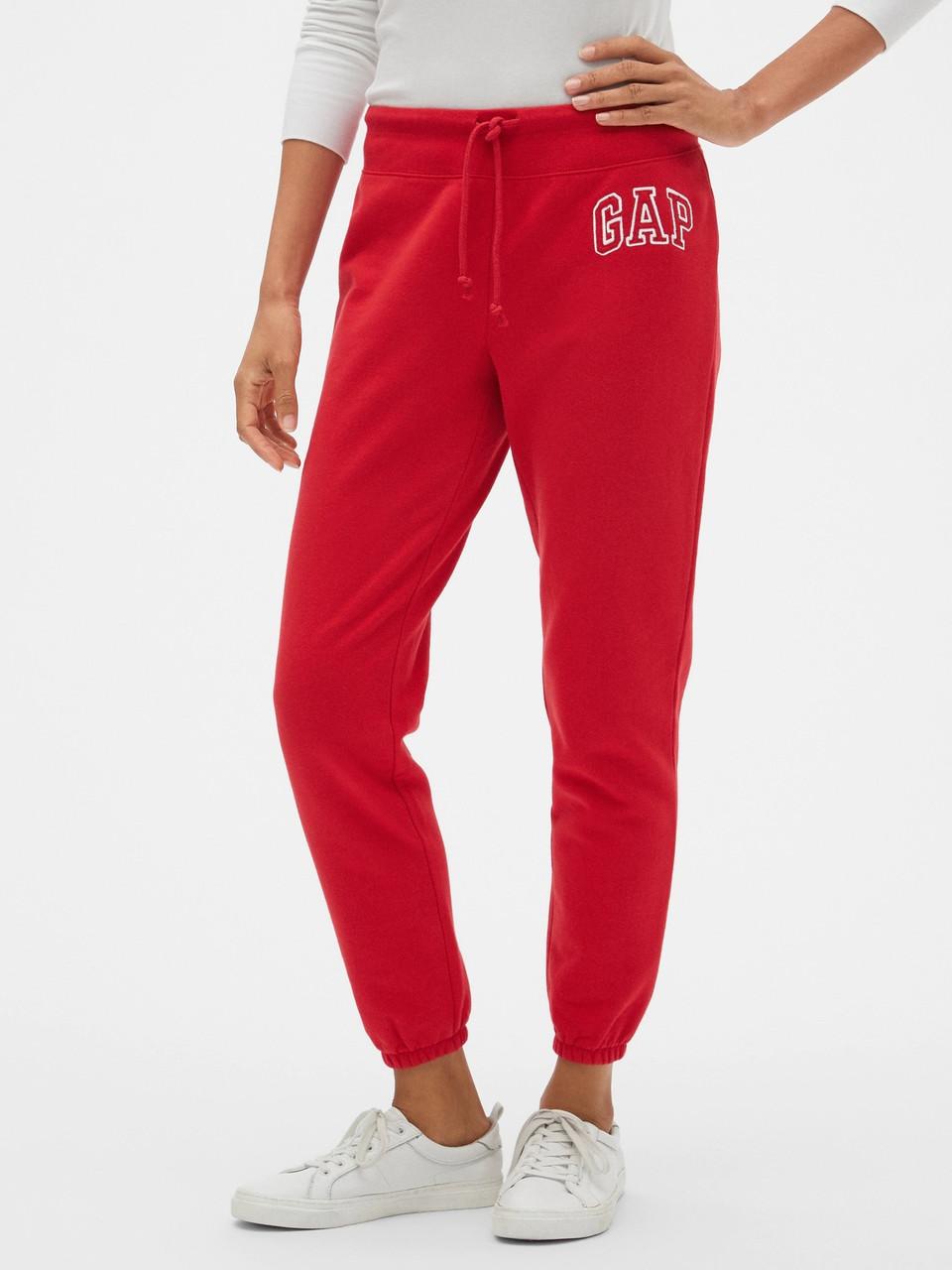 Женские джоггеры GAP спортивные штаны art828309 (Красный, размер M)