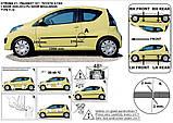 Молдинги на двері для Peugeot 107 3 Door 2005-2014, фото 4