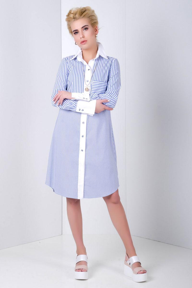 2029 платье-рубашка Колани, синий (42-44)