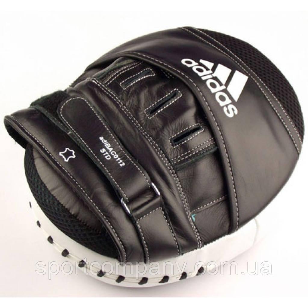 Лапа Adidas Ultimate Classic Air Mitts Vacuum Pad (черно/белые, ADIBAC0112)