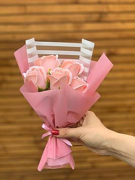 Букет з мила 5 троянд ручна робота