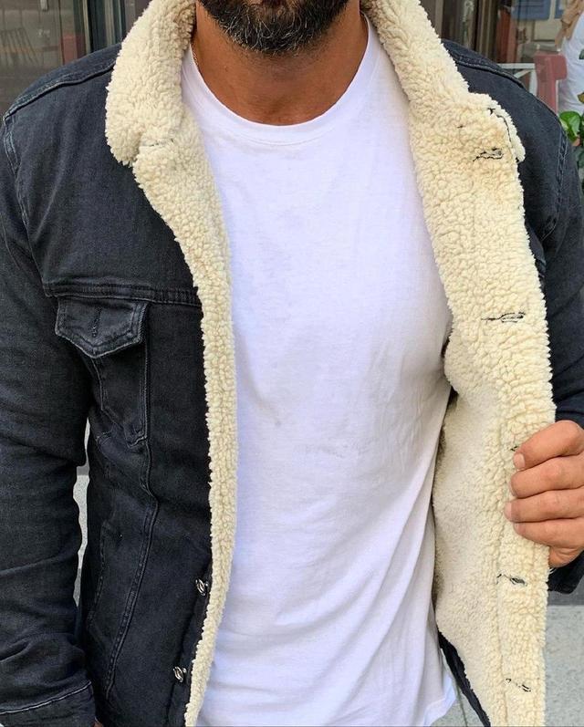 Куртка мужская джинсовая на меху
