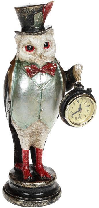 "Статуэтка с часами ""Мудрая Сова"" 12х9.5х29.5см"