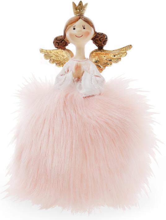 """Декоративная фигурка """"Принцесса в пышном розовом платье"""" 16см"""