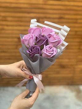 Букет з мила 7 троянд ручна робота