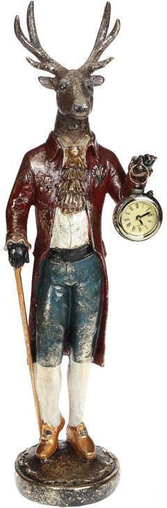 "Декоративная фигура с часами ""Олень с тростью"" 12.5х10.5х83см"
