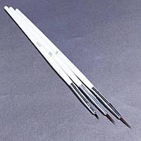 Кисті для тонких ліній та розпису нігтів 3 шт
