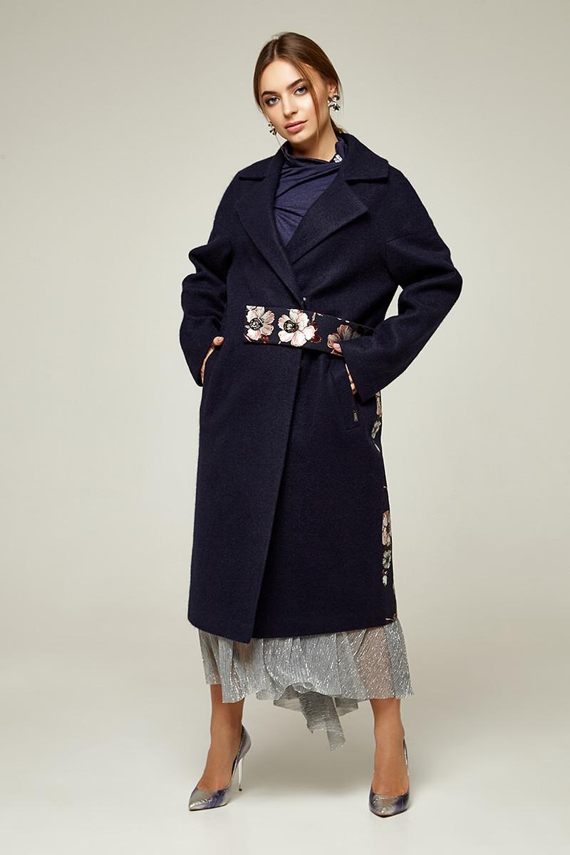 2275 пальто Виктория ,синий (S)