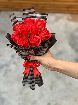 Букет з мила 9 троянд ручна робота