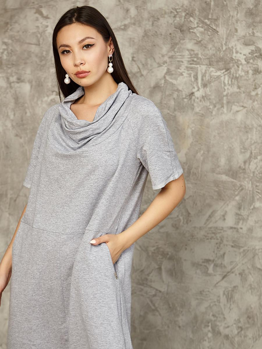 2462 платье Камелия, серый (S)
