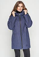 Короткое женское пальто (весна-осень) с капюшоном, в маленьких размерах, джинс (38-46)