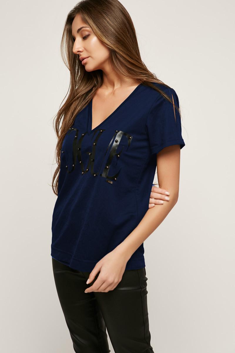 2171 футболка Vogue, синий-черный (42-44)