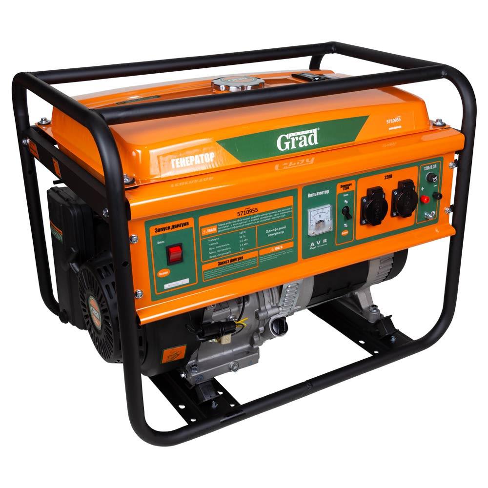 Генератор бензиновый 5.0-5.5кВт 15.0лс GRAD 5710955