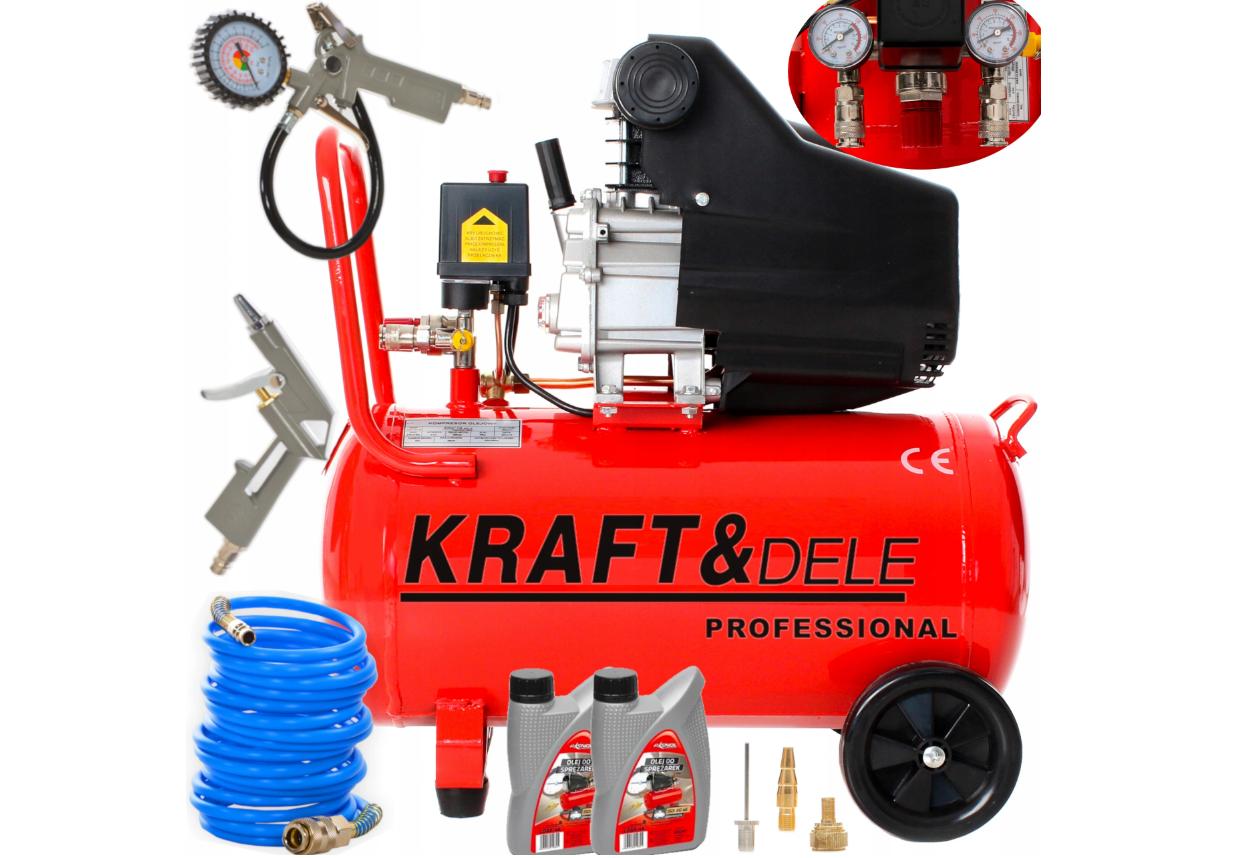 Масляный компрессор Kraft&Dele KD401 + KD412 + 2x nr853