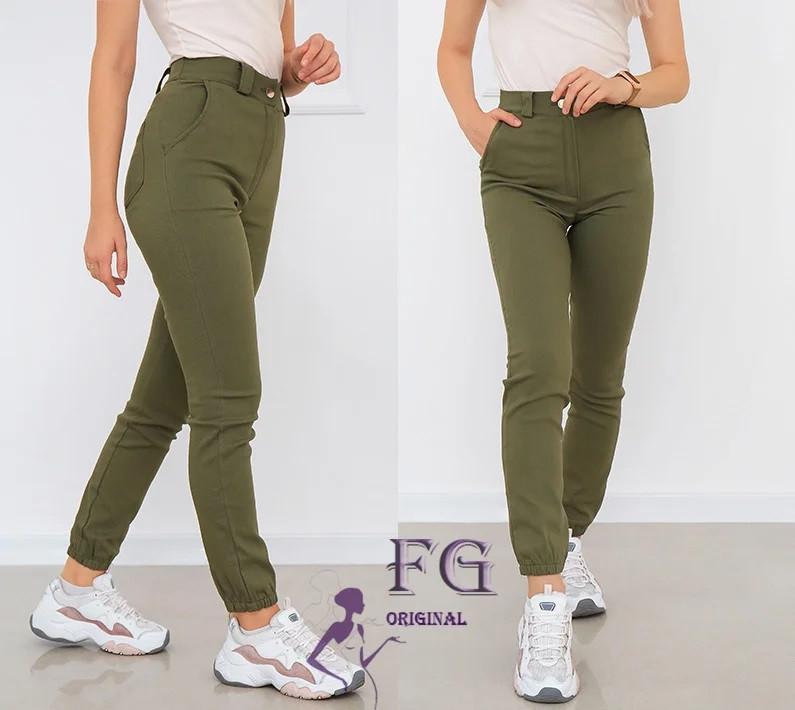 Женские стильные стрейчевые брюки