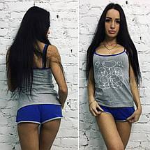 """Милый женский комплект-пижама """"Молли"""" с принтом (4 цвета), фото 2"""
