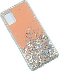 Накладка SA A515 clear/gold Confetti Peach/Silver