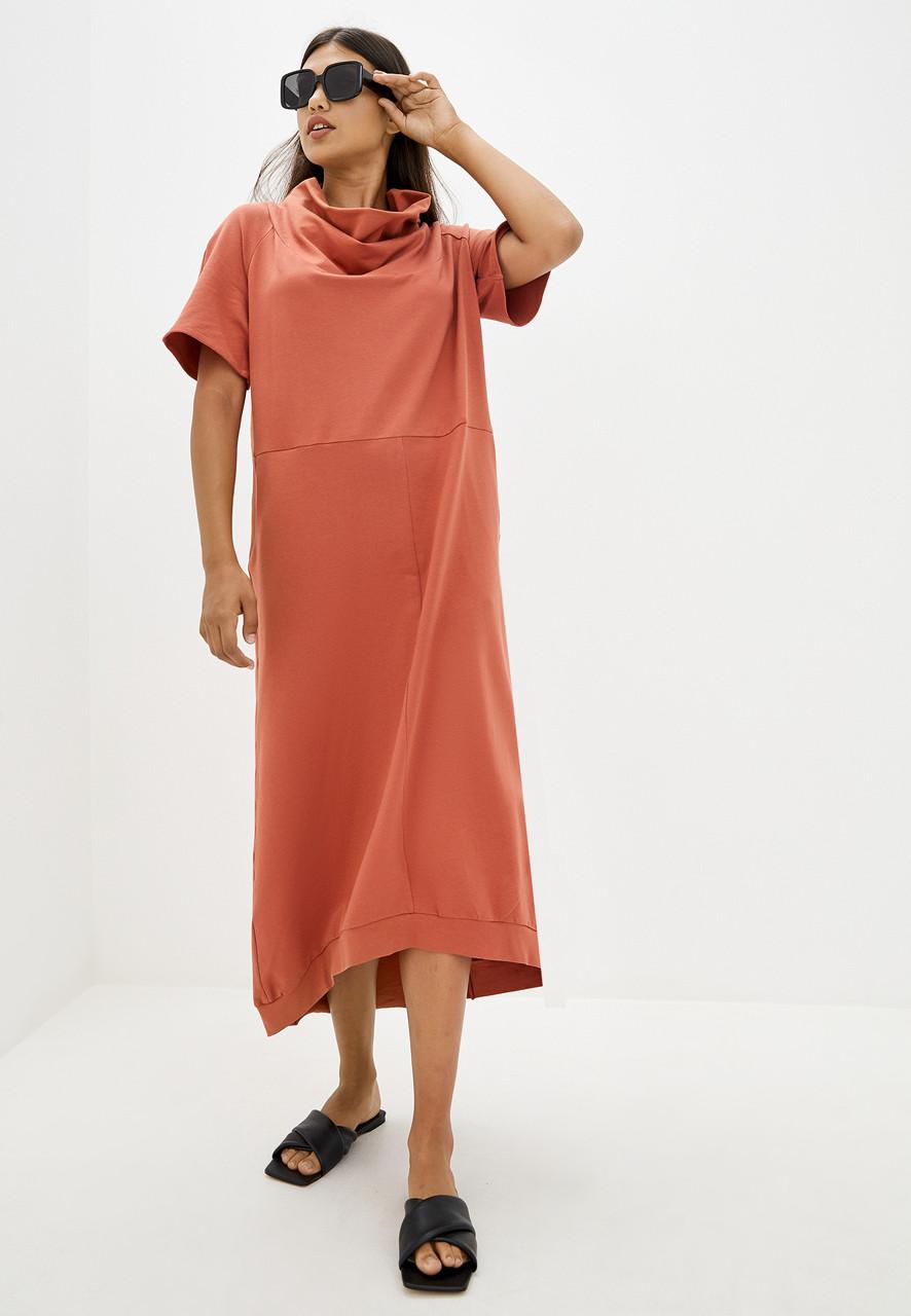 2462 платье Камелия, терракот (S)