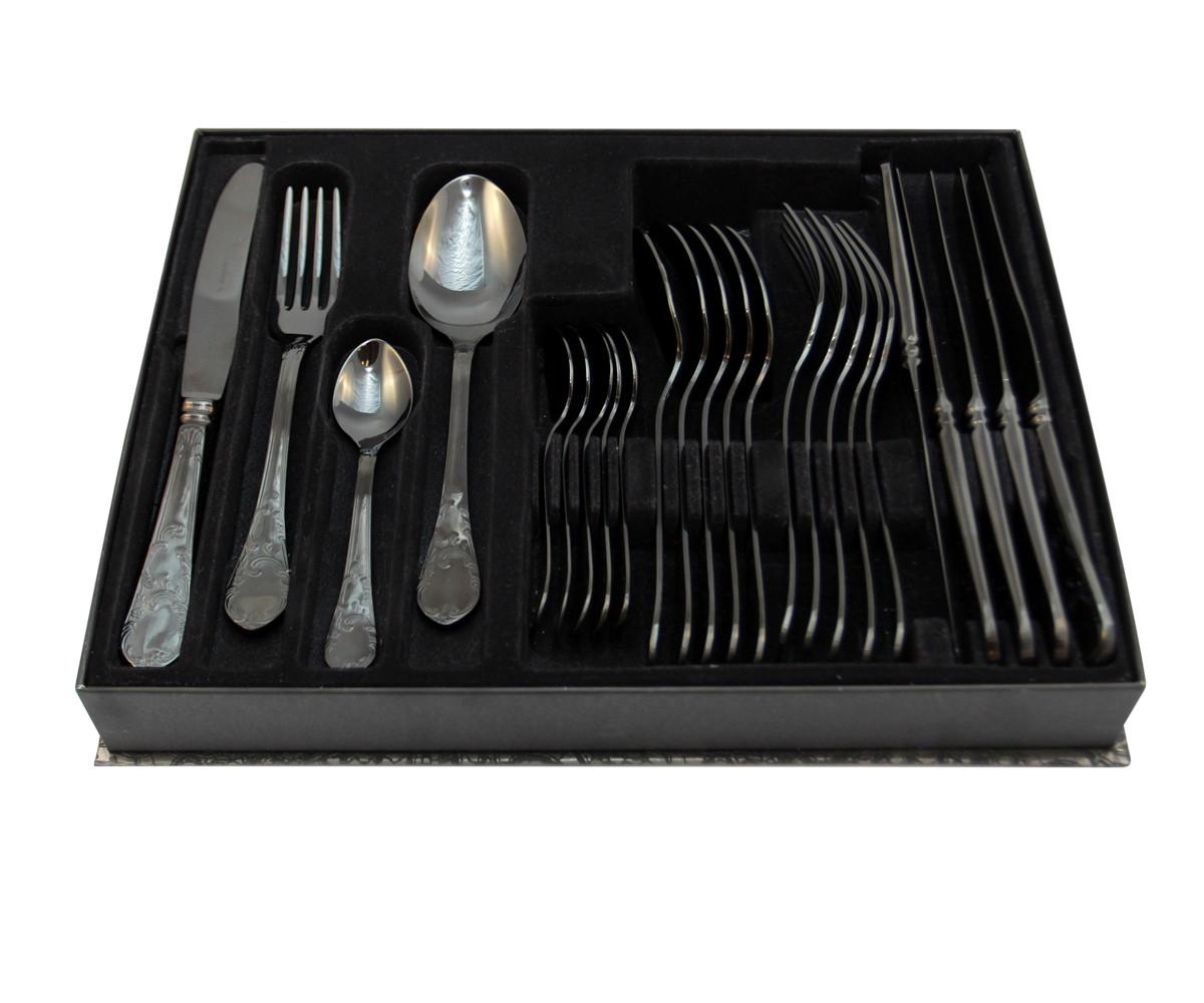 Набор столовых приборов Herdmar Renascenca Black 24 предмета
