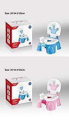 Музыкальный детский горшок (розовый,голубой) Корона, Бриллиант