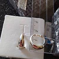 Серьги кольца серебряные 925 пробы
