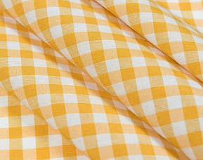 Скатерть клетка Пепита мелкая желтая 1.5м х 1.2м (кухонный стол), фото 2