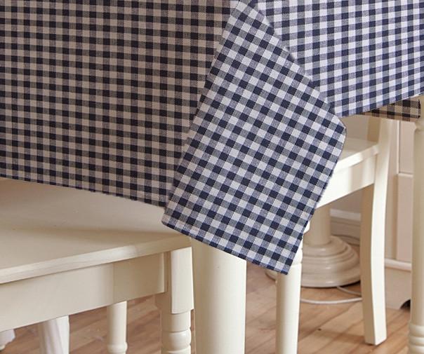 Скатерть клетка Пепита мелкая синяя 1.5м х 1.2м (кухонный стол)