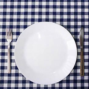 Скатерть клетка Пепита мелкая синяя 1.5м х 1.2м (кухонный стол), фото 2