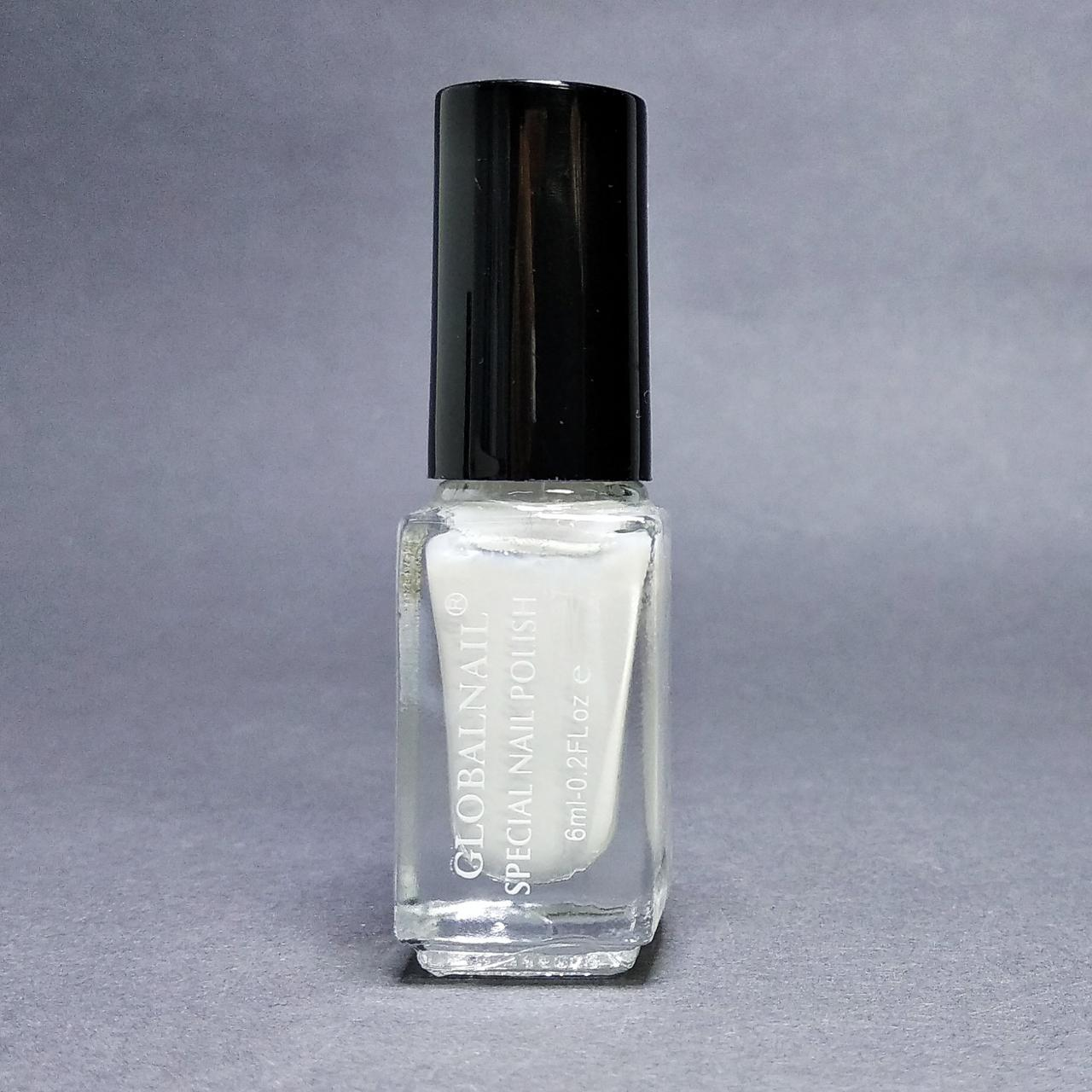 Лак для стемпинга Global Nail, белый