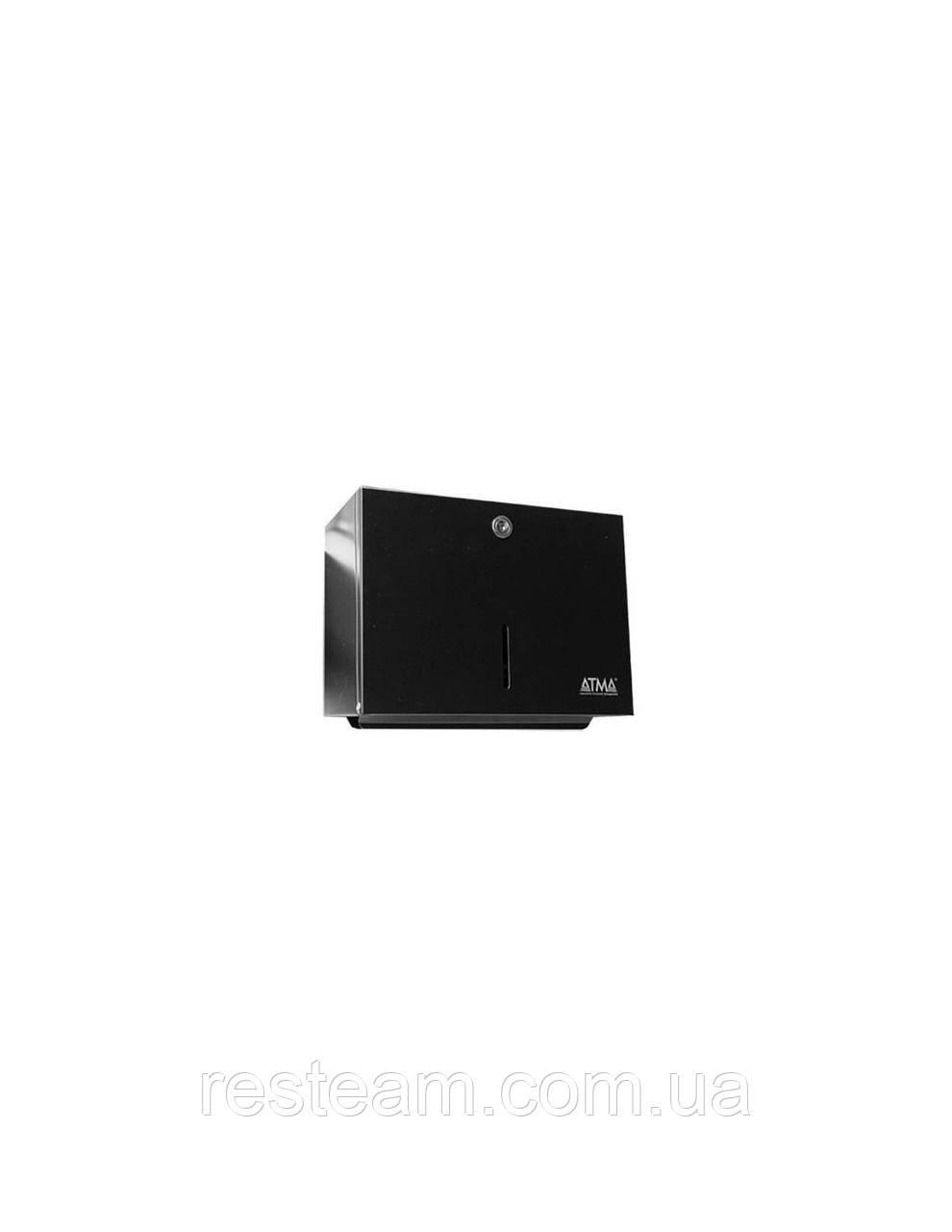 Диспенсер для полотенец нерж черный (18*24*12,5 см) D401 Black